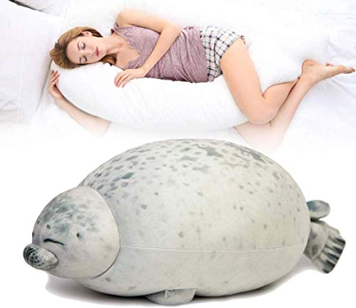 Abester Blob sealed pillows stuffed animals,Plush Toy Sea Animal Cushion Home Decoration L