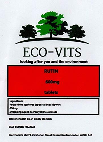 Rutin 600mg 30 Double Strength Vegetarian Tablets Circulation Antioxidant