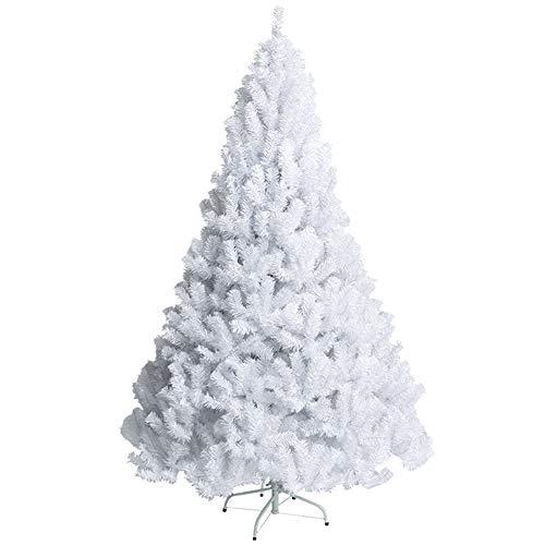 ZXLIFE@ Arbre De Noël Blanc, Jambes Artificielles en Métal De Sapin De Noël De Sapin Parfait Décoration De Vacances Extérieure D'intérieur,150Cm