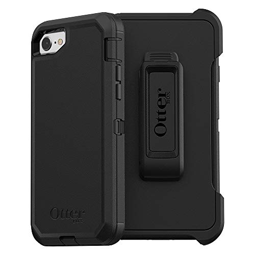 OtterBox DEFENDER SERIES Case For iPhone 8/7 (NOT PLUS) - Frustration Free Packaging - BLACK