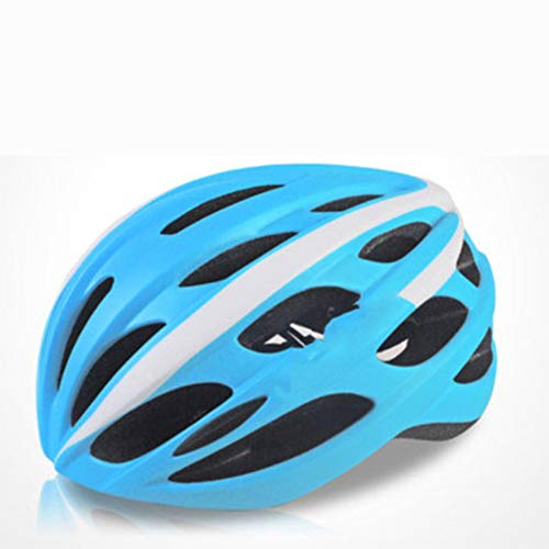 Casque de vélo hommes, Hommes et Femmes Équitation Vélo De Montagne Avec Lumière Feux Arrière Ultralight Casque Respirant Sport Coupe-Vent Casque 58-62CM, couleur, Bleu