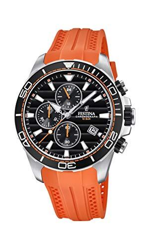 Festina Herren Chronograph Quarz Uhr mit PU Armband F20370/4