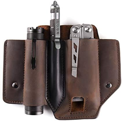 Gentlestache Leather Sheath for Leatherman Multitool Sheath EDC Pocket Organizer with Clip for product image