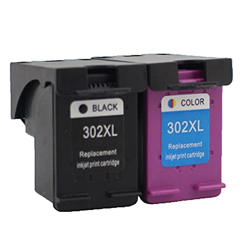 UKKU Compatible para el Cartucho de tóner HP 302XL Laserjet, Utilizado para HP DeskJet 1110 1112 2130 2131 2132 2133 2134 3630 3632 3637 Impresoras con Chip Negro Color Set