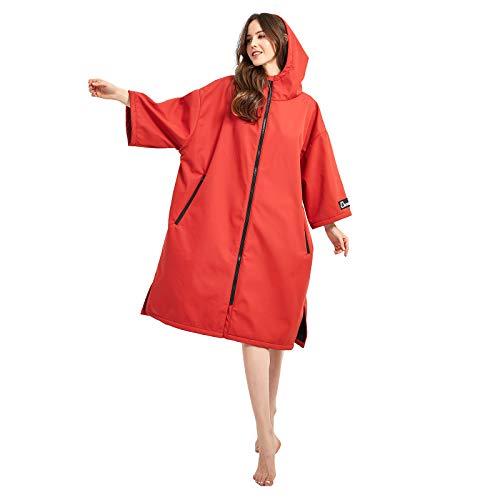 Oksun Surf Poncho Herren und Damen Wasserdichter Handtuch Übergroßer Warmer Mantel mit Kapuze Umziehhilfe am Strand und Schwimmbad