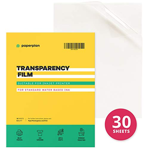 Transparency Sheet | Inkjet Transparency Film | Acetate Sheets | Overhead Projector Transparencies Clear // Paper Plan