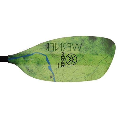 Werner Sherpa Fiberglass Bent Shaft Whitewater Kayak Paddle-200cm-TopEagFallGreen