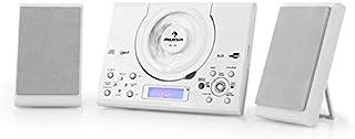 auna MC-120 White Edition - Minicadena , Equipo de música , Altavoces estéreo , Diseño Compacto , CD , MP3 , FM , USB , AU...