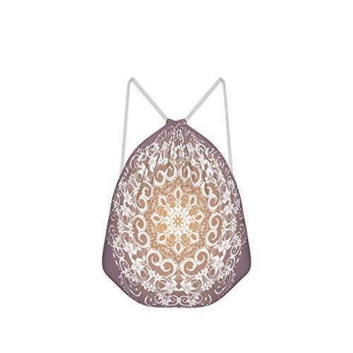 NC83 6 stuks meerkleurig mandela trekkoord rugzak vrije tijd polyester sporttas pak tassen outdoor voor jongens 41x34cm (aanpasbaar/groothandel) Eén maat wit