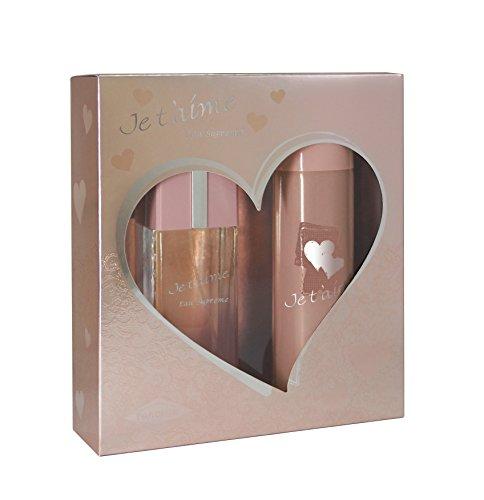 JE T'AIME Eau Suprême • Coffret pour Femme • Eau de Parfum 100 ml + Déodorant 150 ml • Vaporisateur • Spray • Parfum Femme • Cadeau • EVAFLORPARIS