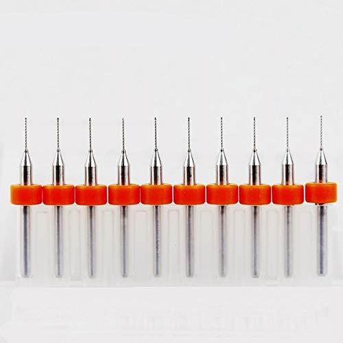 LILICEN LYJ 0.8mm 0.7mm 1.2mm 0.3mm-2.2mm Carbide Drill, PCB Mini CNC Drilling Kit, 10PCS Woodworking Tools, Alloy CNC Milling Machine (Hole Diameter : 1.1 2.0mm, Overall Length : 38mm)