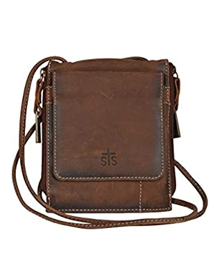 STS Ranchwear Women's The Baroness Euro Crossbody Brown One Size