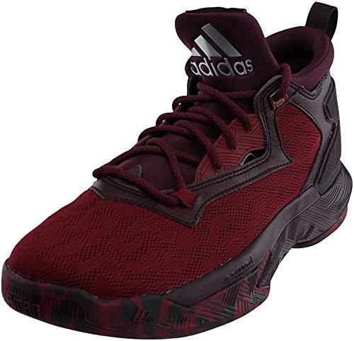 adidas D Lillard 2 Mens Basketball Shoe 5 Burgundy/Burgundy/White