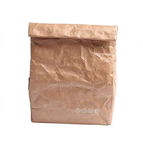 Decoración del hogar- 2pcs de picnic Bolsas for los hombres de las mujeres Kid impermeable del aislamiento del bolso del almuerzo bolsas de comida 6L térmica más frío doblar papel Kraft Bolsas Decorac