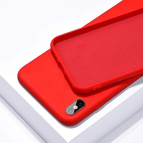 WQDWF Original Liquid Silicone Phone Cases For Oneplus 6 6T 5 5T 8T 8 T Luxury Cover For One Plus 7 Pro Bumper For Oneplus8 7Pro 7T Protection,Red,For Oneplus 8 Pro