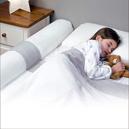 BANBALOO-Barrière pare-chocs de lit/Garde-corps de sécurité en mousse avec housse antidérapante, imperméable,système antichute pour les enfants,les bébés, lits pliants. Coussin de sécurité passif.