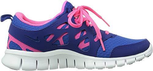 Nike Free Run 2 Gs 477701-401 Unisex - Kinder Low-Top Sneaker, Blau (Game Royal/Hyper Pink-Dp Royal Blue-White) 37.5