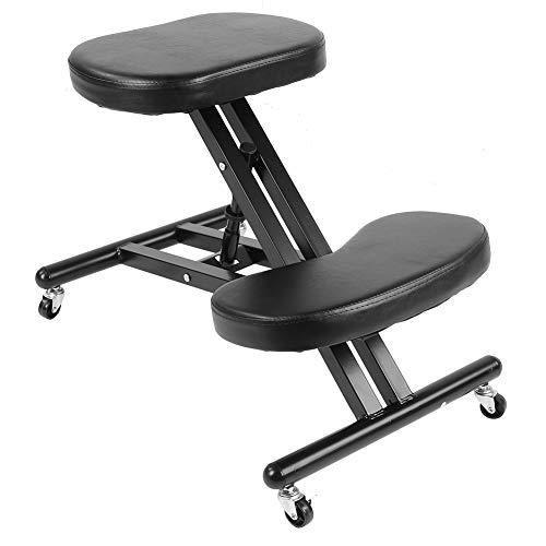 Ergonomischer Kniestuhl Office Home Stuhl Rollend Verstellbarer Schreibtischhocker Haltungskorrektur Kniestuhl mit dicken Kissen und Bremsrollen
