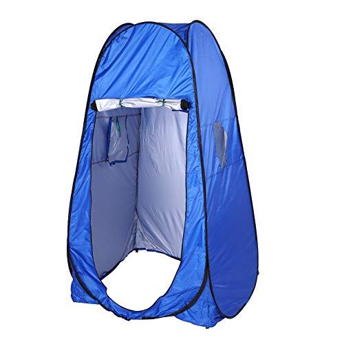 Gojiny Camping Toilet Pop Up Cambiador Plegable Carpa Grande Tienda de Ducha Camping Playa Toilet Doble Cremallera Impermeable Camping Toilet Camping Portátil Ducha Plata para Camping