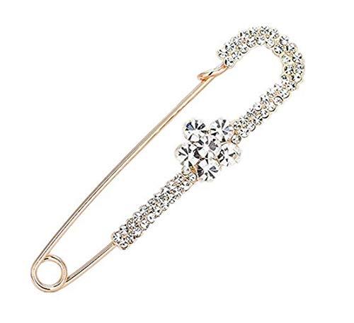 Broche de perlas Boda Ramo de novia Broche Alfileres Accesorios Vestido formal Rhinestone Boutonniere Broche Broche Joyas para regalos Mujeres Adolescentes