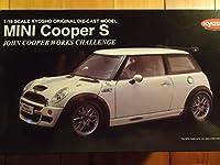 京商 1/18 ミニクーパーS ジョン・クーパー ワークス チャレンジ ホワイト 完成品 BMW MINI COOPER S JOHN COOPER WORKS CHALLENGE
