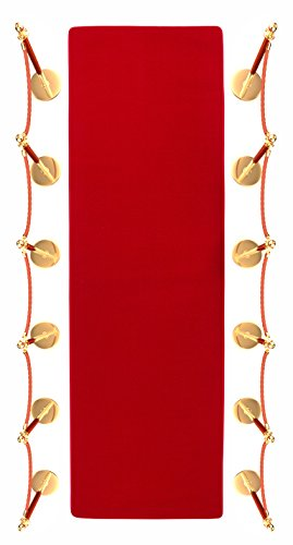 10 Red Carpet Aisle Runner and Party Accessory by Trademark Innovations