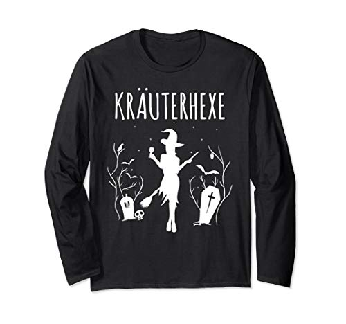 Kräuterhexe Kostüm für Frauen & Kräuterschnaps Hexen Langarmshirt