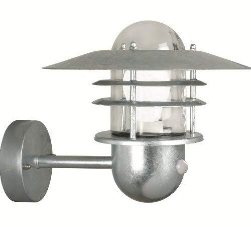 Preisvergleich Produktbild Nordlux Wandleuchte mit Bewegungsmelder Agger 60W E27 verzinkt 74501031