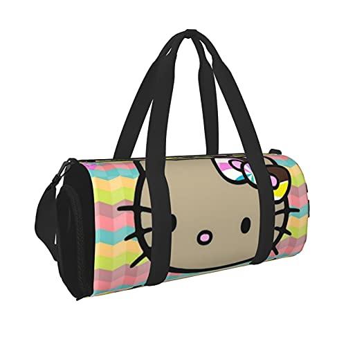 Hello Kitty - Bolsa de deporte para gimnasio de viaje para hombres y mujeres, ligera con bolsillo interior