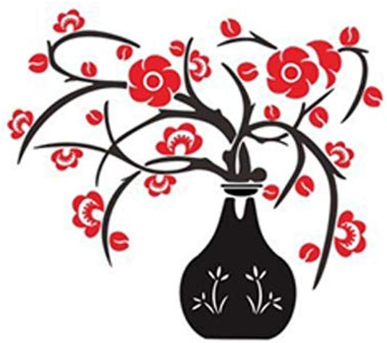 HYRL 3D Florero Creativo Pegatinas De Parojo De Acrílico, Bricolaje Pegatinas Mural De Parojo para Salón Sofá TV Arte Fondo De Parojo (Disponible En Tres Tamaos),L
