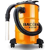 BACOENG Aspirador de Cenizas con Sistema de Doble Filtración, 1200 W, 20 L, 230V