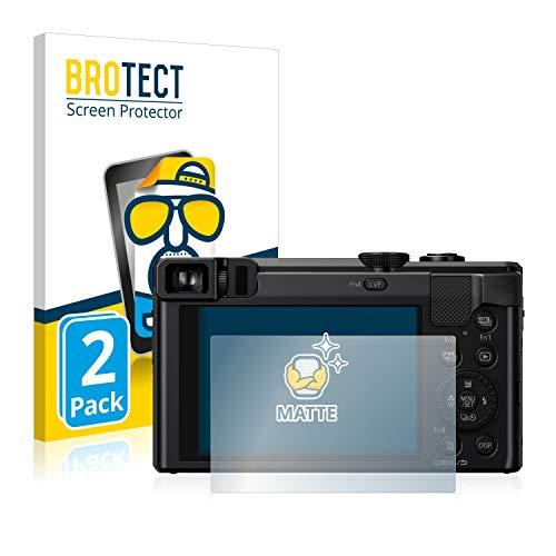 BROTECT 2X Entspiegelungs-Schutzfolie kompatibel mit Panasonic Lumix DMC-TZ81 Bildschirmschutz-Folie Matt, Anti-Reflex, Anti-Fingerprint