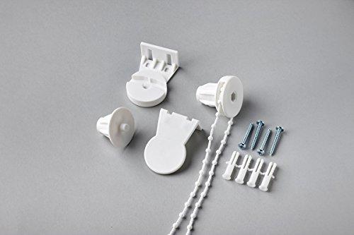 MDS Rolgordijnen Zijwinder Vervangende Kit voor 25mm Diameter - Met Beugels, Ketting & P-Clip