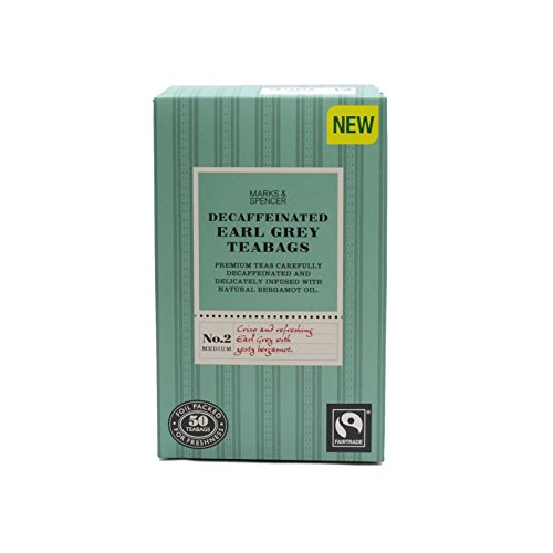 Marks & Spencer Decaffeinated Earl Grey Tea 50 Bags (From the UK)