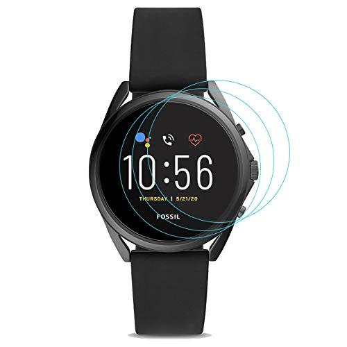 3-Pack for Fossil Gen 5 LTE Smartwatch Screen Protector Tempered Glass for Fossil Gen 5 LTE Smartwatch [2.5D 9H Hardness][Anti-Scratch]