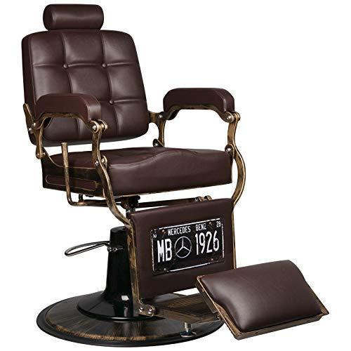 GABBIANO BOSS - Poltrona da barbiere Poltrona reclinabile idraulica Salone di bellezza : Marrone