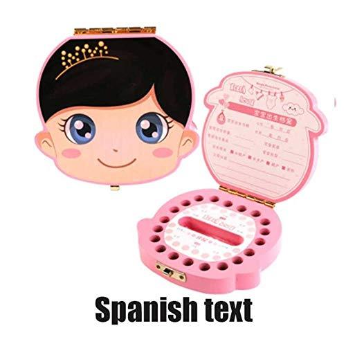 AOM Nederlands/Portugees/Engels/Spaans/Russisch/Frans/Italiaans/Tekst Baby Jongen Meisje Houten Koffer Melk Tanden Organizer