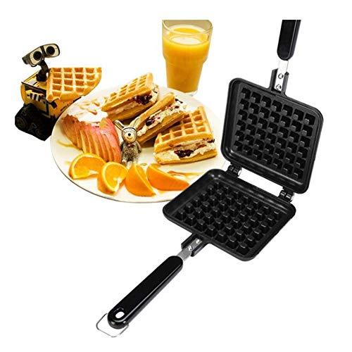 YourBooy Waffeleisen Donut Maker und Snack Maker Brownie mit abnehmbaren Antihaftplatten, einstellbare Temperatur Frühstücksmaschine Kuchenmaschine,Schwarz
