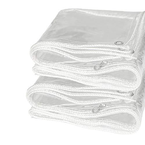 Lonas Vela de Sombra Cortina Impermeable de PVC,Transparente,Ventana Espesar Plástico Suave Tela A Prueba de Viento,Al Aire Libre Balcón Toldo Suculentas Jardinería Plantas,0.4mm(1.1x1.5m/3.6x4.9ft)