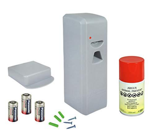 Eider Argus Animal Prevent Tierabwehr Spraysystem - Katzenschreck - Hundeschreck - Kleintierschreck - Tiervertreiber mit Sprühstoß