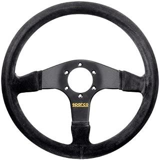 Sparco 015R375PSN Suede Steering Wheel, Black