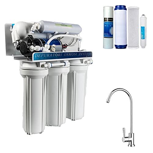 DC Solution | Depuratore Acqua Osmosi Inversa 400 Galloni | DC-RO4005 Purificatore domestico filtro acqua potabile dal rubinetto di casa