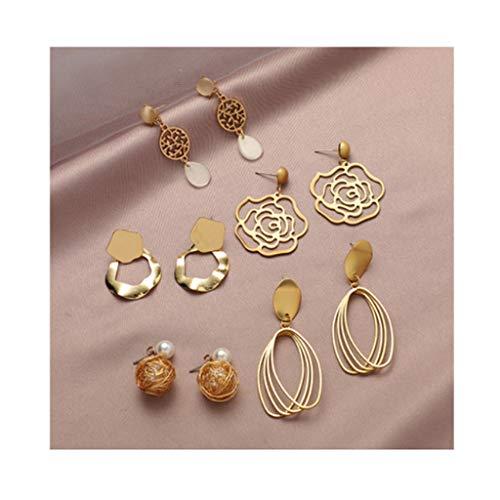didi Juego de pendientes para mujer, con diseño de gota de perlas, accesorios adecuados (color A2)