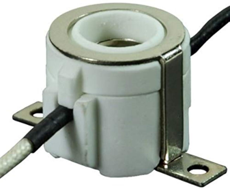 3 Pack E11 Mini-Candelabra Screw Ceramic Lampholder Socket,E11 mini Porcelain Candelabra Base Socket with 12 inch Lead Wires E11 Socket (3)