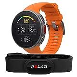 Polar Vantage V HR -Reloj premium con GPS y Frecuencia cardíaca - Sensor H10 - Multideporte y perfil de triatlón - Potencia de running, batería ultra larga, resistente al agua - Naranja