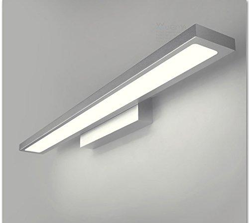 Flashing- Europese creatieve manier minimalistische slaapkamer LED-mistbestendig en waterdichte lamp spiegel voorlamp spiegelkast wit (kleur: zilver, grootte: 90cm)