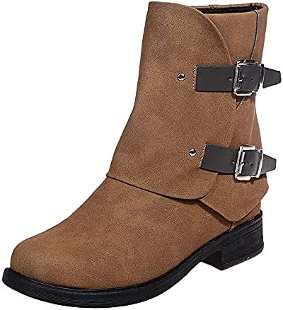 Leather Boots Women Cowgirl Hiking Boots Vintage Shoes for Woman