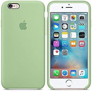 2450d5582c8 Desconocido Funda para iPhone, Silicona Verde Pastel Manzana Logo Apple Carcasa  iPhone (iPhone 6