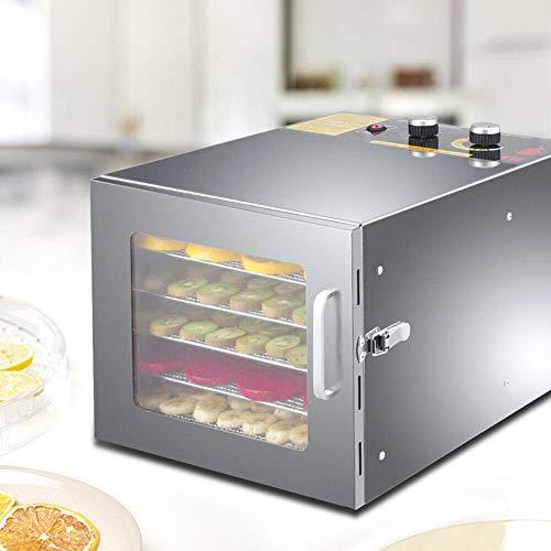 Dörranordning Torrtomat 600 W frukttorkare torkmaskin 6 fack 35–70 °C för temperatur och timer • dehydrator komplett set för frukt, kött och frukt