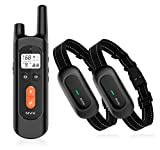 NVK Dog Training Collar - 2 Receiver Rechargeable Collars for Dogs...